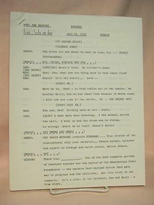 STRANGE. JULY 25, 1955 [radio script]: Grant, Maxwell (Walter Gibson)