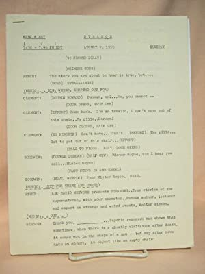 STRANGE. AUGUST 2, 1955 [radio script]: Grant, Maxwell (Walter Gibson)