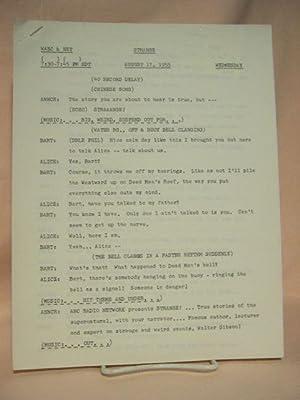STRANGE. AUGUST 17, 1955 [radio script]: Grant, Maxwell (Walter Gibson)