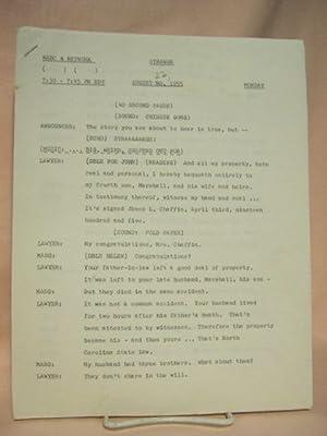 STRANGE. AUGUST 22, 1955 [radio script]: Grant, Maxwell (Walter Gibson)