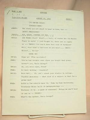 STRANGE. AUGUST 26, 1955 [radio script]: Grant, Maxwell (Walter Gibson)