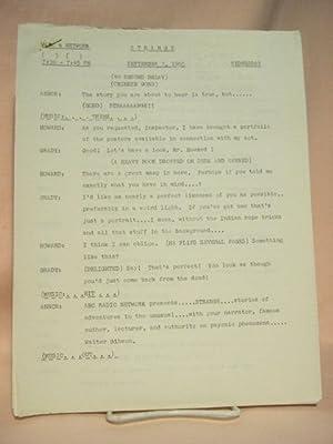 STRANGE. SEPTEMBER 7, 1955 [radio script]: Grant, Maxwell (Walter Gibson)