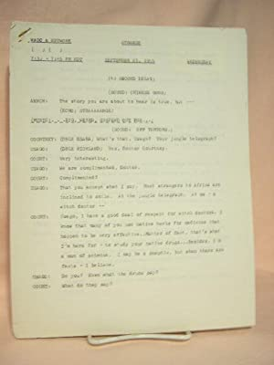 STRANGE. SEPTEMBER 21, 1955 [radio script]: Grant, Maxwell (Walter Gibson)