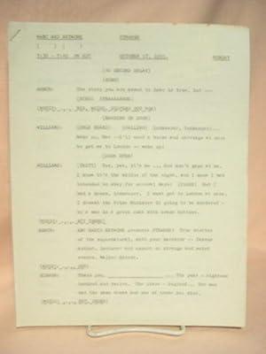 STRANGE. OCTOBER 17, 1955 [radio script]: Grant, Maxwell (Walter Gibson)