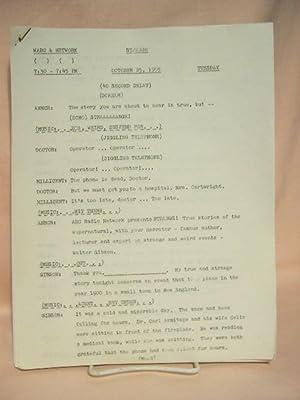 STRANGE. OCTOBER 25, 1955 [radio script]: Grant, Maxwell (Walter Gibson)