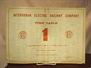 INTERURBAN ELECTRIC RAILWAY COMPANY [EMPLOYEE] TIME TABLE NO. 1