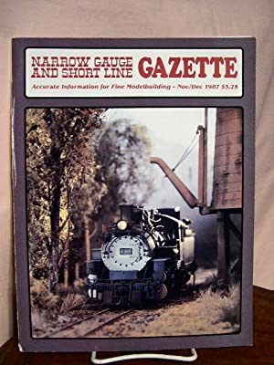 On3,On30,SN3,HOn3 NARROW GAUGE AND SHORT LINE GAZETTE MAGAZINE NOV//DEC 1979