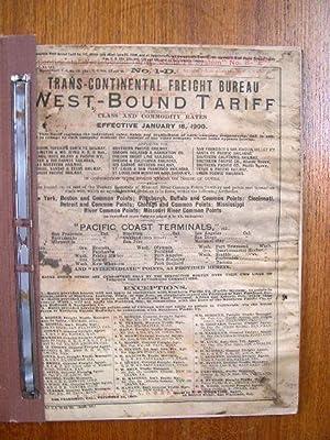 TRANS-CONTINENTAL FREIGHT BUREAU: TARIFF NO. 1-D: WEST-BOUND TARIFF.TO PACIFIC COAST TERMINALS