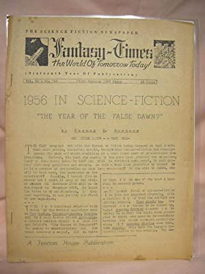 FANTASY-TIMES; THE WORLD OF TOMORROW TODAY! JANUARY 1, 1957, VOLUME 12, NUMBER 262