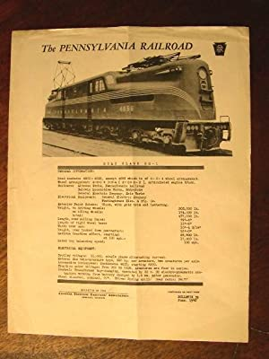 C.E.R.A. BULLETIN 39, THE PENNSYLVANIA RAILROAD ROAD CLASS GG-1 DATA SHEET