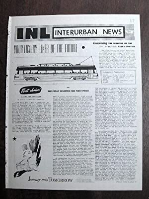INL. INTERURBAN NEWS LETTER: THE NATIONAL ELECTRIC RAILWAY DIGEST. NOVEMBER, 1945: Swett, Ira L., ...