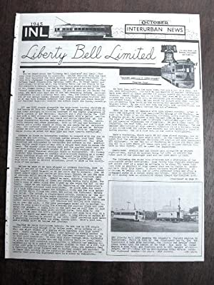 INL. INTERURBAN NEWS LETTER: THE NATIONAL ELECTRIC RAILWAY DIGEST. OCTOBER, 1945: Swett, Ira L., ...