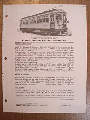 C.E.R.A. BULLETIN 29, CENTRAL ELECTRIC RAILFANS' ASSOCIATION