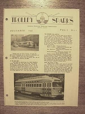 TROLLEY SPARKS; VOLUME 2, NUMBER 1: Neuburger, Barney, editor