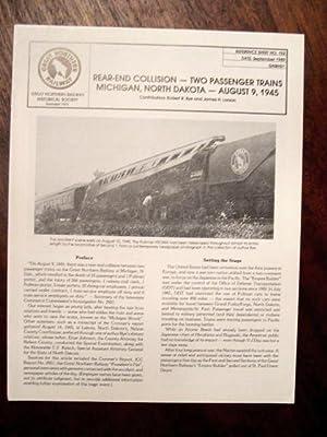 REAR-END COLLISION - TWO PASSENGER TRAINS, MICHIGAN,: Bye, Robert R.,