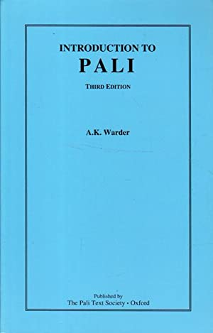 Introduction to Pali: Third Edition: Warder, A. K.