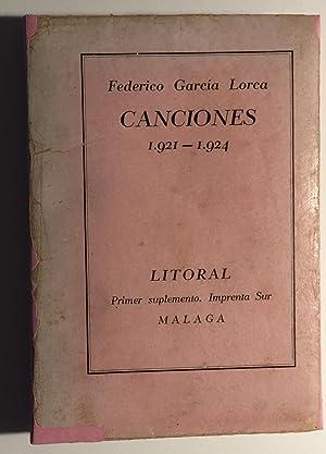Canciones 1921 - 1924: Federico García Lorca