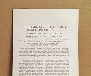 The Reminiscences Of Lady Randolph Churchill: Ninth: Cornwallis - West,