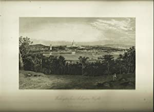 Washington From Arlington Heights, Steel Engraving: Sheppard, W. L. / R. Hinshelwood, engraver