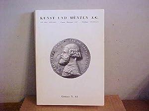 Listino N. 61, Ottobre 1987: Kunst Und Munzen