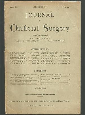 Journal Of Orificial Surgery, Volume II, No. 12, June, 1894: Pratt, E. H., M. D., Francis D. ...