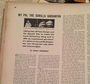 My Pal The Gorilla Gargantua in Ken The Insider's World Magazine: Hemingway, Ernest