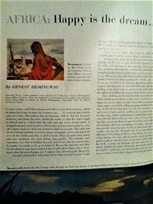 Happy Is The Dream in Look Magazine: Hemingway, Ernest