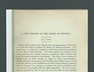 A New Theory Of The Origin Of: Dastre, A.