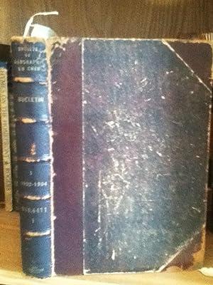 Societe De Geographie Du Cher, Bound Volume, 1903 - 1904