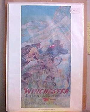 Winchester Rifles And Cartridges 1911 Colored Print