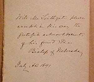 Autograph Note Signed to William Southgate By the Bishop of Nebraska: Southgate, William