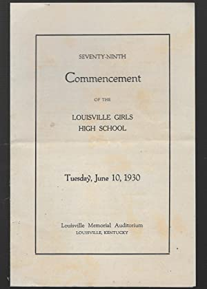 Seventy - Ninth Commencement Of The Louisville: Weatherspoon, J. B.