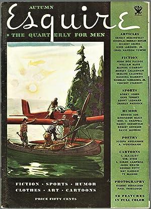 Marlin Off The Morro: A Cuban Letter in Esquire Magazine, Volume I, No. I, Smaller Edition Issue: ...