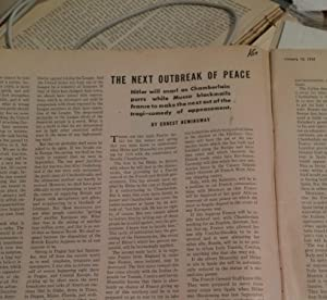 The Next Outbreak Of Peace in Ken The Insider's World Magazine: Hemingway, Ernest
