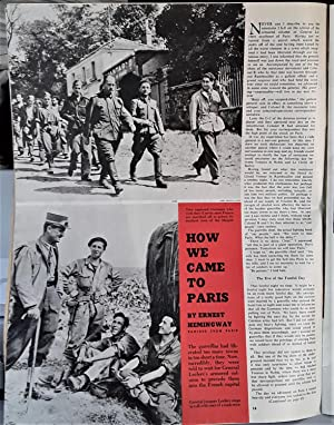 How We Came To Paris in Collier's Weekly Magazine: Hemingway, Ernest
