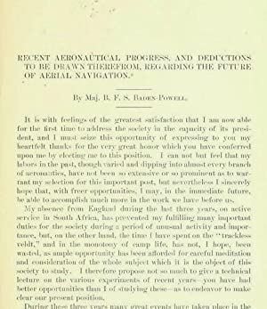 Recent Aeronautical Progress And Deductions To Be: Baden-Powell, B. F.