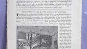 Elizabethan And Later English Furniture: Spofford, Harriet Prescott