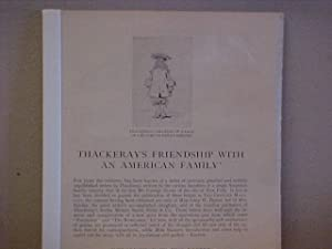 Thackeray's Friendship With An American Family: Unpublished Letters To The Baxters / ...