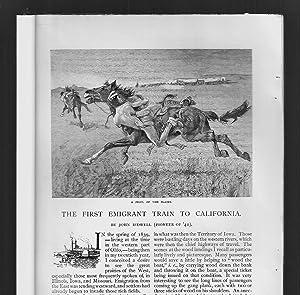 The First Emigrant Train To California /: Bidwell, John /
