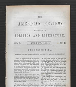 The Oregon Bill: Remarks On The South Carolina Doctrine In Regard To Territory