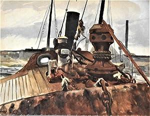 Deck Of Beam Trawler Widgeon, in color: Hopper, Edward