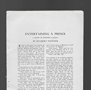 Entertaining A Prince: A Story Of Western: Footner, Hulbert