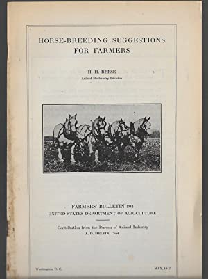 Horse-Breeding Suggestions For Farmers: Reese, H. H.