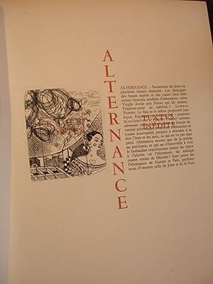 ALTERNANCE. 16 écrits inédits de François MAURIAC: COCTEAU Jean -