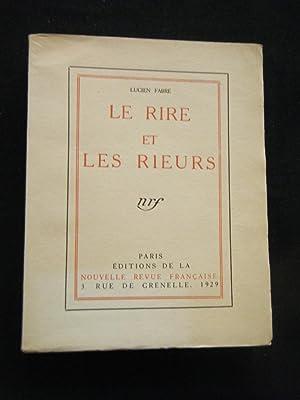 Le Rire et les rieurs.: FABRE Lucien.
