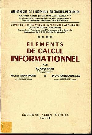 Cours de Mathématiques Supérieures Appliquées **** Eléments: CULLMANN G., DENIS-PAPIN