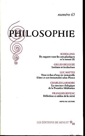 Philosophie N° 65: SCHELLING, DELEUZE Gilles,