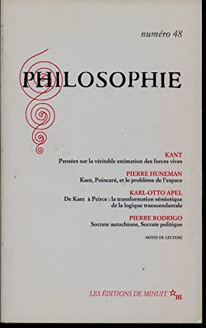 Philosophie N° 48: KANT, HUNEMAN Philippe,