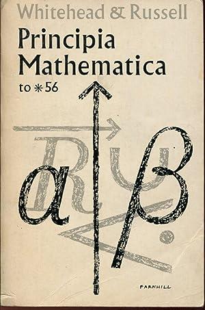 Principia Mathematica to *56: WHITEHEAD Alfred North,