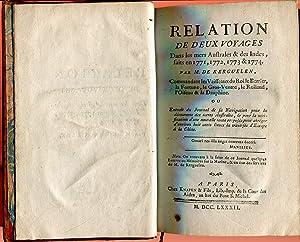 Relation de deux voyages dans les mers: KERGUELEN-TREMAREC Yves-Joseph de